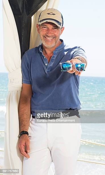 Antonio Banderas poses for a photo session on August 6 2016 in Marbella Spain
