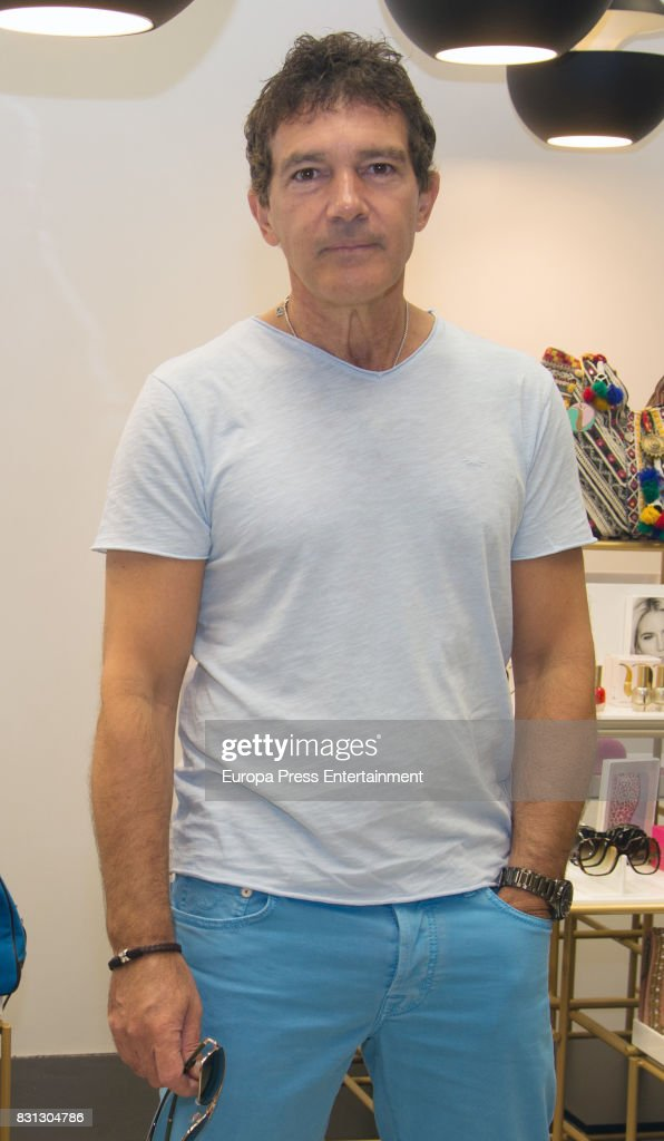 Antonio Banderas present their new collections on August 12, 2017 in Marbella, Spain.