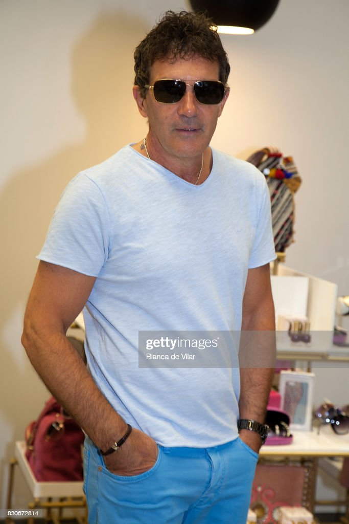 Antonio Banderas presents his new collection on August 12, 2017 in Marbella, Spain.