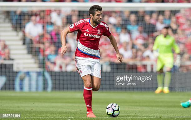 Antonio Barragan of Middlesbrough during the Premier League match between Middlesbrough and Stoke City on August 13 2016 in Middlesbrough