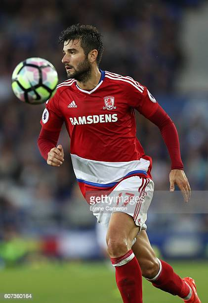 Antonio Barragan of Middlesbrough during the Premier League match between Everton and Middlesbrough at Goodison Park on September 17 2016 in...