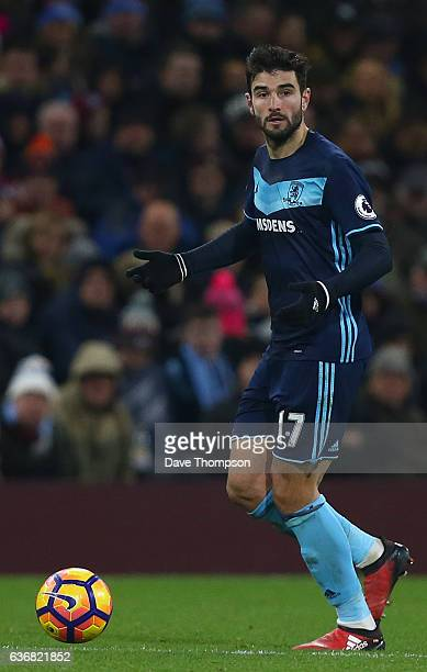 Antonio Barragan of Middlesbrough during the Premier League match between Burnley and Middlesbrough at Turf Moor on December 26 2016 in Burnley...