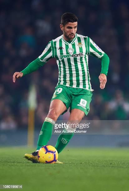 Antonio Barragan of Real Betis Balompie in action during the La Liga match between Real Betis Balompie and Rayo Vallecano de Madrid at Estadio Benito...