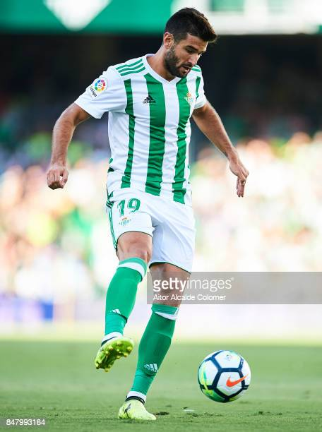 Antonio Barragan of Real Betis Balompie in action during the La Liga match between Real Betis and Deportivo La Coruna at Estadio Benito Villamarin on...