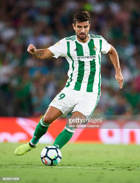 Antonio Barragan of Real Betis Balompie in action during the La Liga match between Real Betis and Levante at Estadio Benito Villamarin on September...
