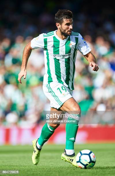 Antonio Barragan of Real Betis Balompie in action during the La Liga match between Real Betis and Alaves at Estadio Benito Villamarin on October 21...