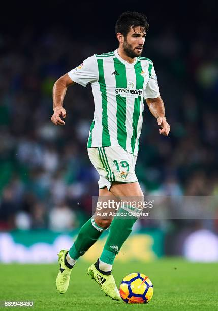 Antonio Barragan of Real Betis Balompie in action during the La Liga match between Real Betis and Getafe at Estadio Benito Villamarin on November 3...