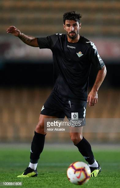 Antonio Barragan of Real Betis Balompie in action during the Preseason match between Real Betis and Lille OSC at Estadio Chapin on July 28 2018 in...