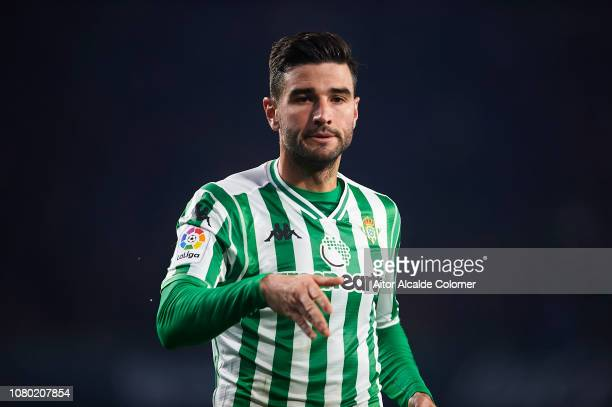 Antonio Barragan of Real Betis Balompie looks on during the La Liga match between Real Betis Balompie and Rayo Vallecano de Madrid at Estadio Benito...