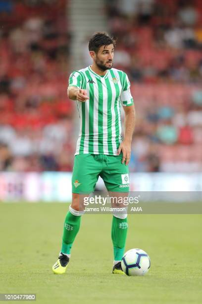 Antonio Barragan of Real Betis during the PreSeason Friendly match between AFC Bournemouth and Real Betis at Vitality Stadium on August 3 2018 in...