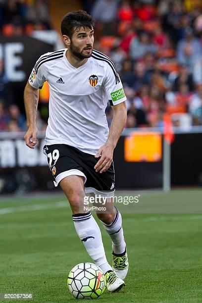 19 Antonio Barragan of Valencia CF during La Liga match between Valencia CF and Sevilla CF at Mestalla Stadium in Valencia on April 10 2016