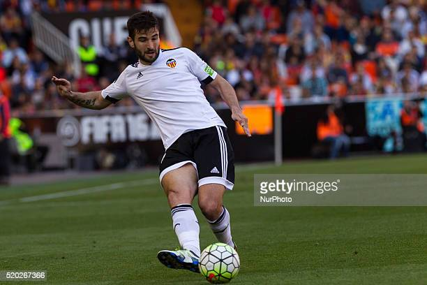 19 Antonio Barragan of Valencia CF during La Liga match between Valencia CF and Sevilla CF at Mestalla Stadium in Valencia on April 10 2016