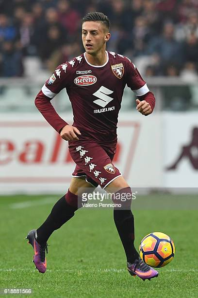 Antonio Barreca of FC Torino in action during the Serie A match between FC Torino and SS Lazio at Stadio Olimpico di Torino on October 23 2016 in...