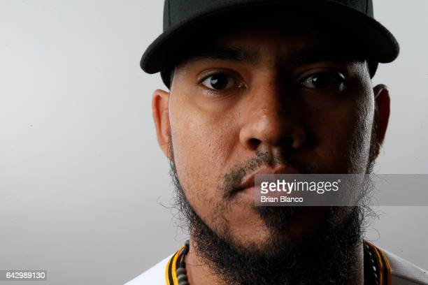 Antonio Bastardo of the Pittsburgh Pirates poses for a photograph during MLB spring training photo day on February 19 2017 at Pirate City in...