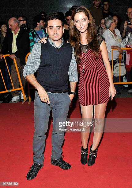 Antonio Bayona and Leticia Dolera attend the premiere of 'The Road' at the 42nd Sitges Film Festival on October 11, 2009 in Barcelona, Spain.