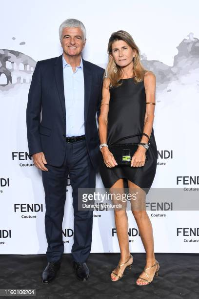 Antonio Belloni and Giovanna Belloni attend the Cocktail at Fendi Couture Fall Winter 2019/2020 on July 04, 2019 in Rome, Italy.