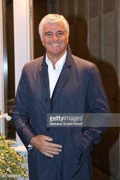 Antonio Belloni attends the Inauguration evening of PavYllon a restaurant by Yannick Alleno at Pavillon Ledoyen on October 07 2019 in Paris France