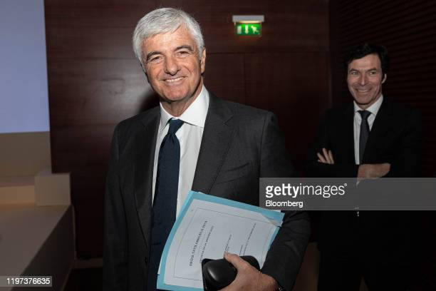 Antonio Belloni cheif executive officer of Fendi International SA left and JeanJacques Guiony chief financial officer of LVMH Moet Hennessy Louis...