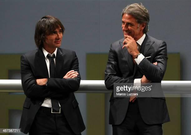 Antonio Benarrivo and Alberto Di Chiara attend the FC Parma 100 years Anniversary at Teatro Regio on December 16 2013 in Parma Italy