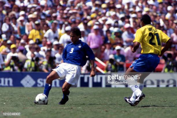 Antonio Benarrivo of Italy during the 1994 FIFA World Cup final match between Brazil and Italy at Rose Bowl on July 17 1994 in Los Angeles Pasadena...