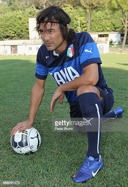 Antonio Benarrivo of the Azzurri Stars looks on during the training session at Acqua Acetosa sports center on August 31 2015 in Rome Italy