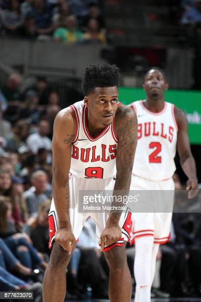 Antonio Blakeney of the Chicago Bulls looks on against the Utah Jazz on November 22 2017 at Vivint Smart Home Arena in Salt Lake City Utah NOTE TO...