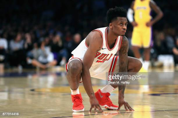 Antonio Blakeney of the Chicago Bulls looks on during the second half of a game against the Los Angeles Lakers at Staples Center on November 21 2017...