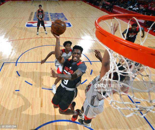 Antonio Blakeney of the Chicago Bulls shoots the ball against the Portland Trail Blazers during the 2017 Summer League on July 12 2017 at the Cox...
