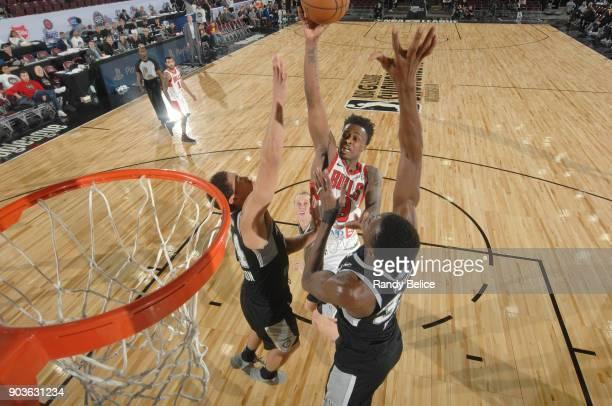 Antonio Blakeney of the Windy City Bulls dunks against the Windy City Bulls during the NBA G League Showcase Game 3 on January 10 2018 at the Hershey...