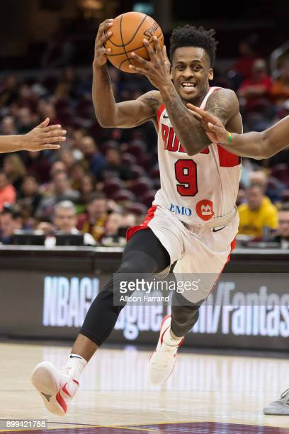 Antonio Blakeney of the Windy City Bulls handles the ball against the Canton Charge on December 28 2017 at Quicken Loans Arena in Cleveland Ohio NOTE...