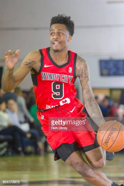 Antonio Blakeney of the Windy City Bulls handles the ball against the Maine Red Claws during the NBA GLeague on February 25 2018 at the Portland Expo...