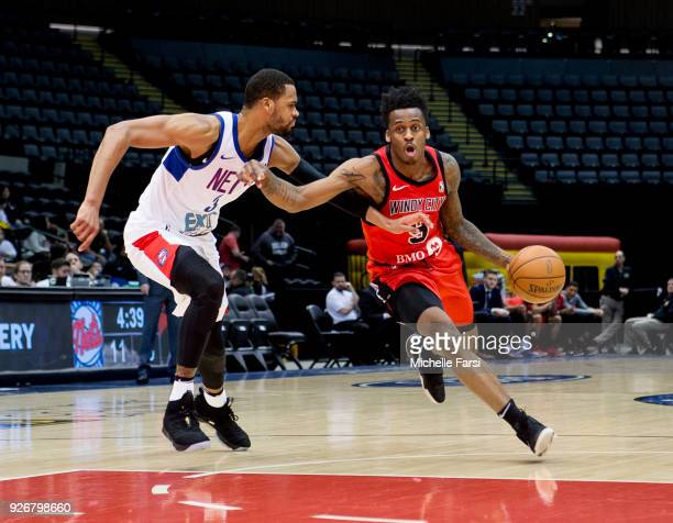 Antonio Blakeney of the Windy City Bulls handles the ball during the game against the Long Island Nets during an NBA GLeague game on March 2 2018 at...