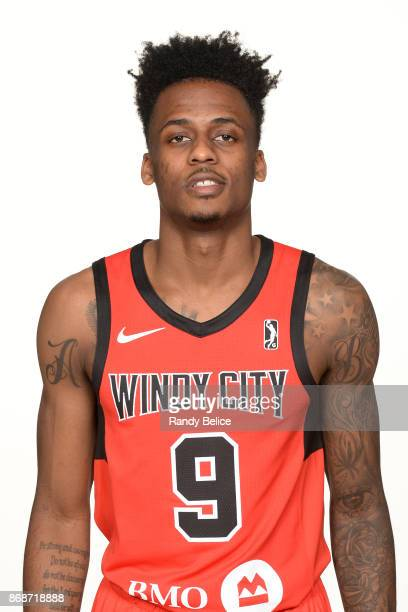 Antonio Blakeney of the Windy City Bulls poses for a head shot during NBA GLeague Media Day on October 31 2017 at the Sears Centre Arena in Hoffman...