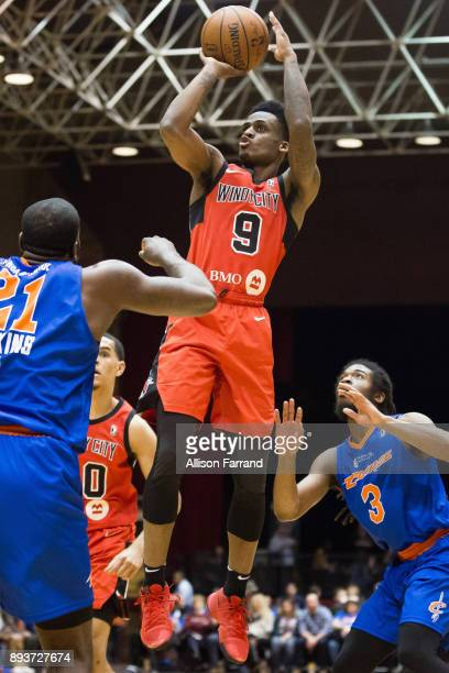 Antonio Blakeney of the Windy City Bulls shoots the ball against the Canton Charge on December 15 2017 at the Canton Memorial Civic Center in Canton...
