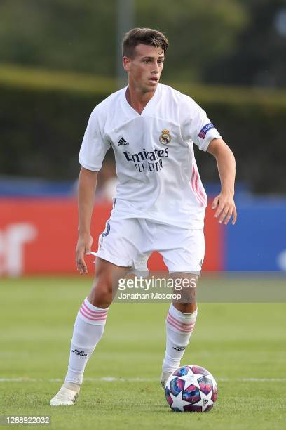 Antonio Blanco of Real Madrid during the UEFA Youth League Final at Colovray Sports Centre on August 25, 2020 in Nyon, Switzerland.