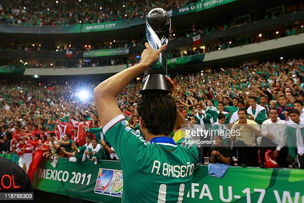 Antonio Briseno of Mexico celebrate winning the U17 World Cup during the FIFA U17 World Cup Mexico 2011 Final match between Uruguay and Mexico at the...