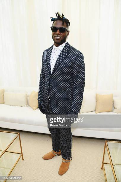 Antonio Brown attends 2019 Roc Nation THE BRUNCH on February 9 2019 in Los Angeles California