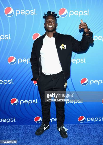 Antonio Brown attends 'Planet Pepsi' PreSuper Bowl LIII party featuring Travis Scott on February 1 2019 in Atlanta Georgia