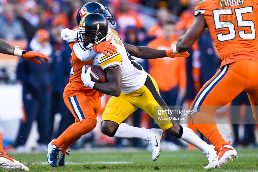Denver Broncos vs. the Pittsburgh Steelers, NFL : News Photo