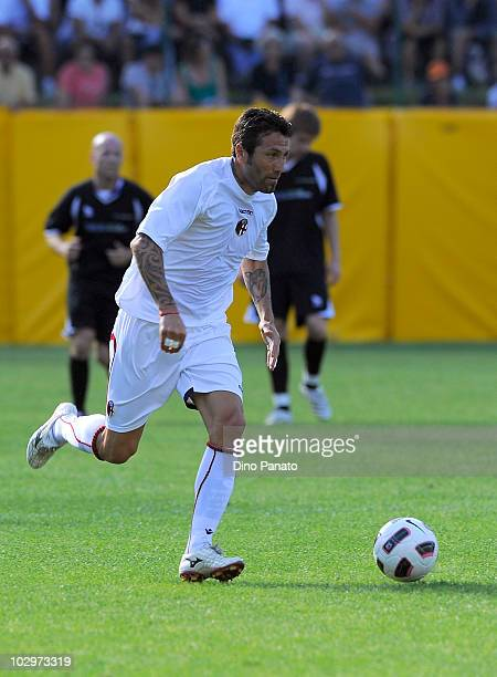 Antonio Busce' of Bologna in action during the pre season friendly match between Bologna and Rotaliana on July 18 2010 in Andalo near Trento Italy