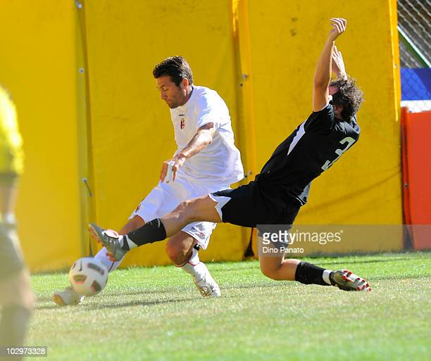 Antonio Busce' of Bologna in action during the pre season friendly match between Bologna and Rotaliana on July 18, 2010 in Andalo near Trento, Italy.