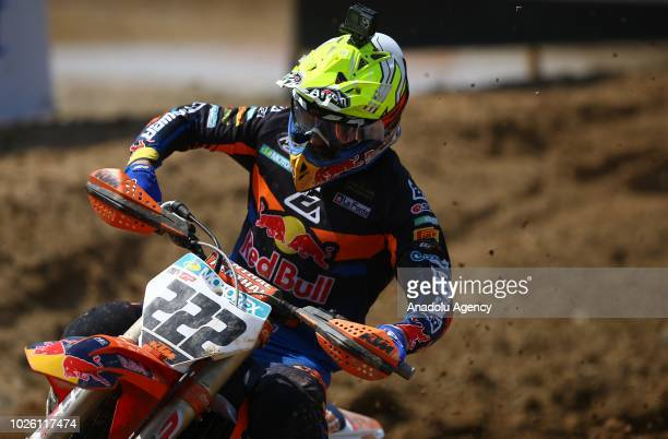 Antonio Cairoli competes in the first race of Motocross World Championship MXGP in Afyonkarahisar Turkey on September 02 2018 Cairoli won the second...
