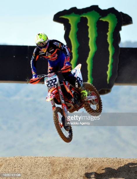 Antonio Cairoli in action during the training laps of Motocross World Championship's round 18 in Afyonkarahisar Turkey on September 1 2018
