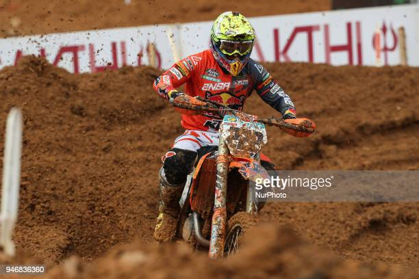 Antonio Cairoli in KTM of Red Bull KTM Factory Racing in action during the MXGP World Championship 2018 Race of Portugal on April 15 2018 in Agueda...