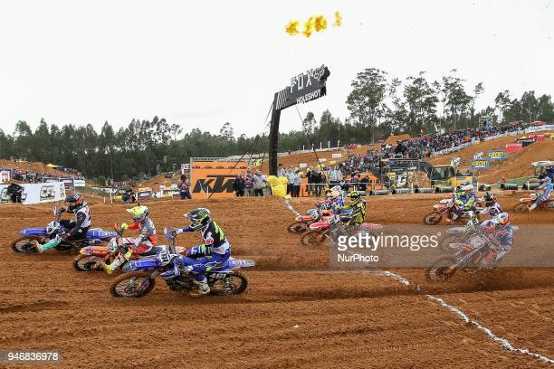 Antonio Cairoli in KTM of Red Bull KTM Factory Racing Jeffrey Herlings in KTM of Red Bull KTM Factory Racing and Romain Febvre in Yamaha of Monster...