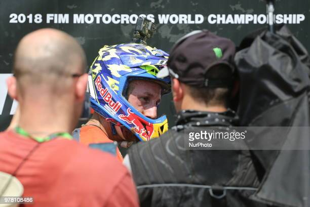 Antonio Cairoli of Red Bull KTM Factory Racing team after the victory at Fiat Professional MXGP of Lombardia race at Ottobiano Motorsport circuit on...