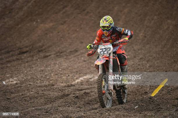 PANGKALPINANG BANGKA INDONESIA JULY 01 Antonio Cairoli of Red Bull KTM Factory Racing Team competes during Final Race 2 on day two of the FIM...
