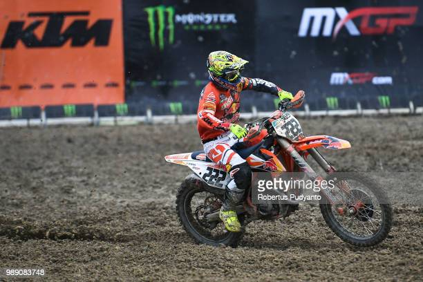 PANGKALPINANG BANGKA INDONESIA JULY 01 Antonio Cairoli of Red Bull KTM Factory Racing Team competes during the MXGP Race 1 on day two of the FIM...