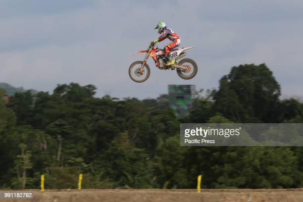 Antonio Cairoli of Red Bull KTM Factory Racing Team competes during the MXGP Warmup Race on day one of the FIM Motocross World Championship Indonesia...