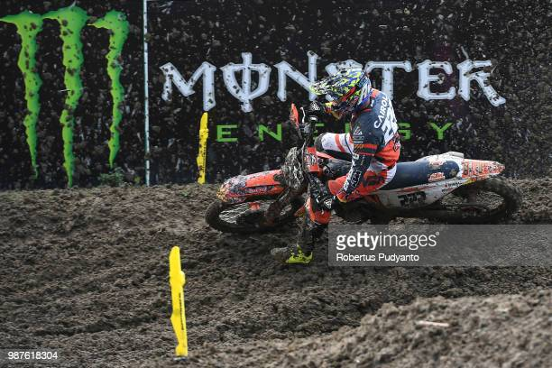 PANGKALPINANG BANGKA INDONESIA JUNE 30 Antonio Cairoli of Red Bull KTM Factory Racing Team in action during free practice session on day one of the...